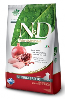 Natural&Delicious Pollo y granada puppy medium