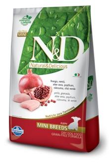 Natural&Delicious Pollo y granada puppy mini